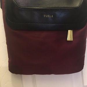 Furla Nylon Crossbody bag with Leather Trim